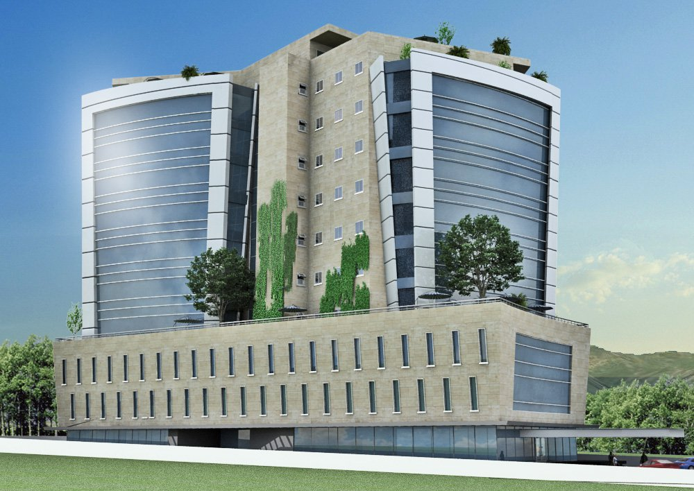 Noor durrani associates private power infrastructure for Commercial building elevation photos